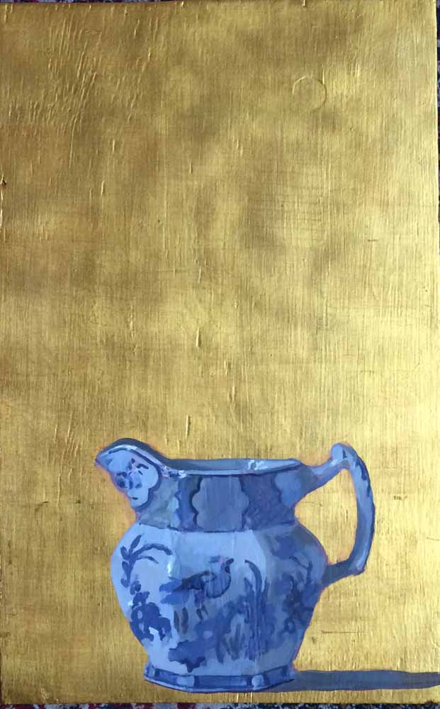 Blue Jug on Gold