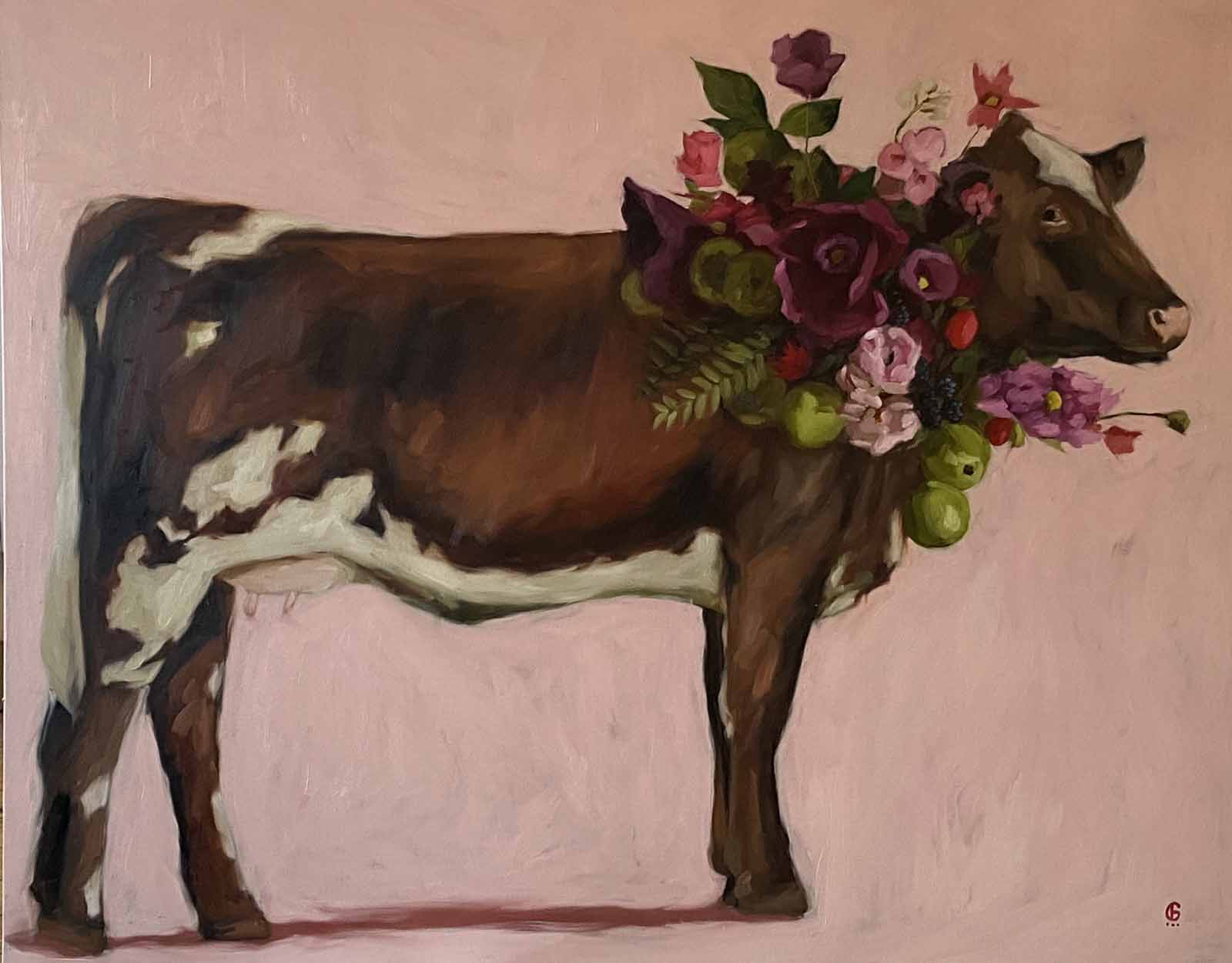 Cow with Apples
