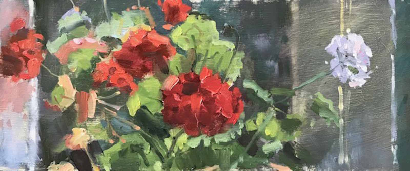 Geraniums in the Window,