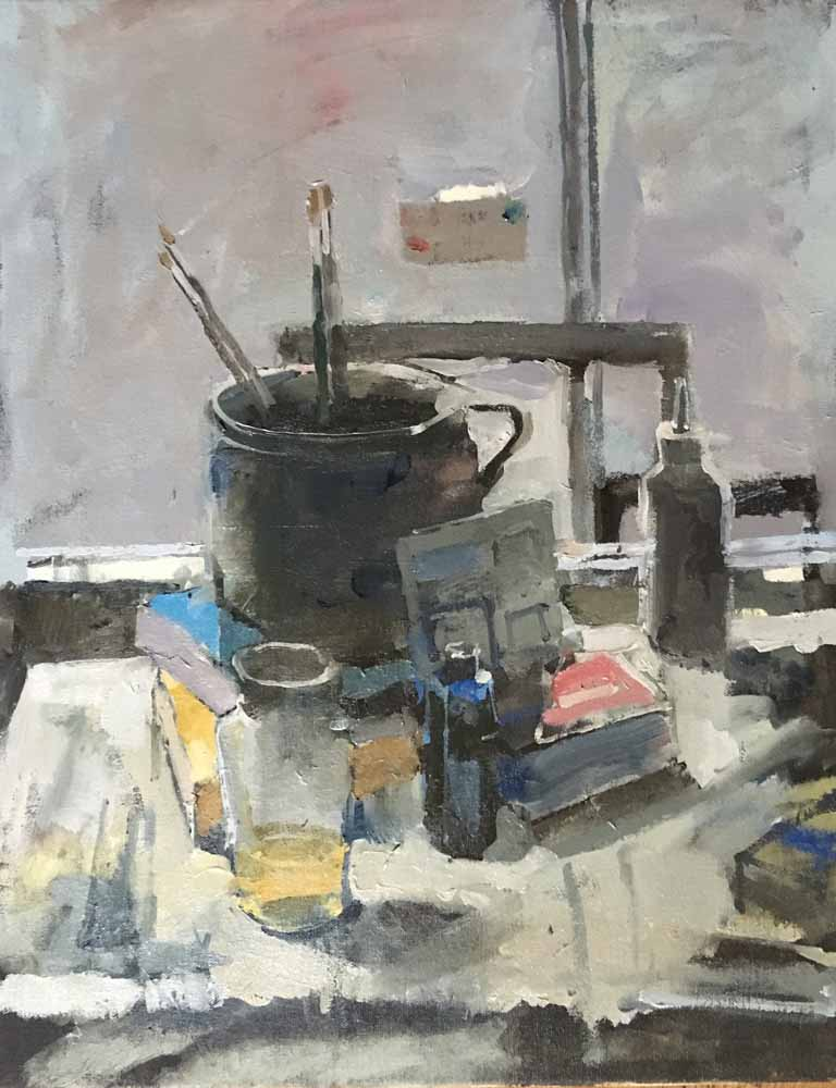 Winter Still-Life Against a Window